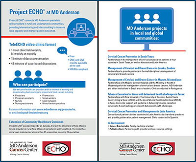 Project ECHO at MD Anderson flyer