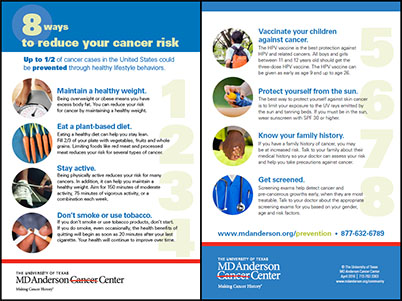 8 Ways to Reduce Your Cancer Risk