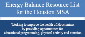 Energy Balance Resource List for Houston MSA