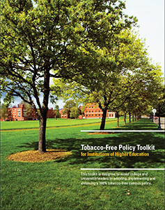 Tobacco-Free Policy Toolkit for Institutions of Higher Education